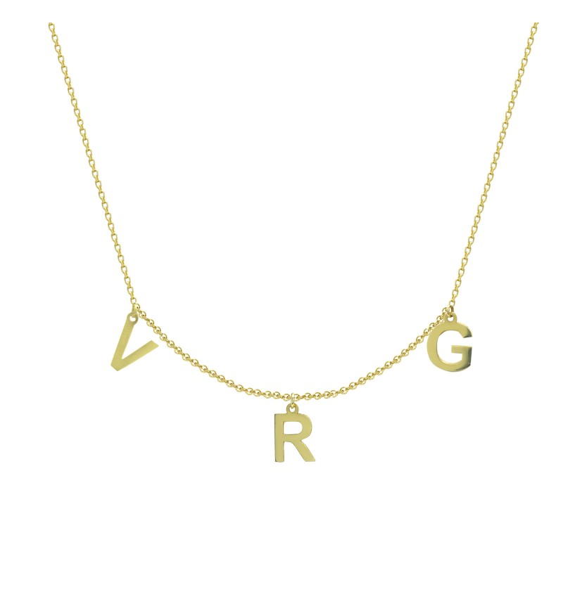 NECKLACE INITIALS LETTERS