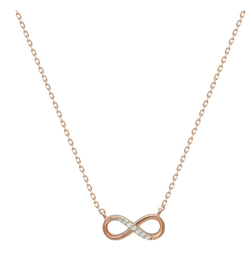 NECKLACE INFINITY WITH ZIRCON