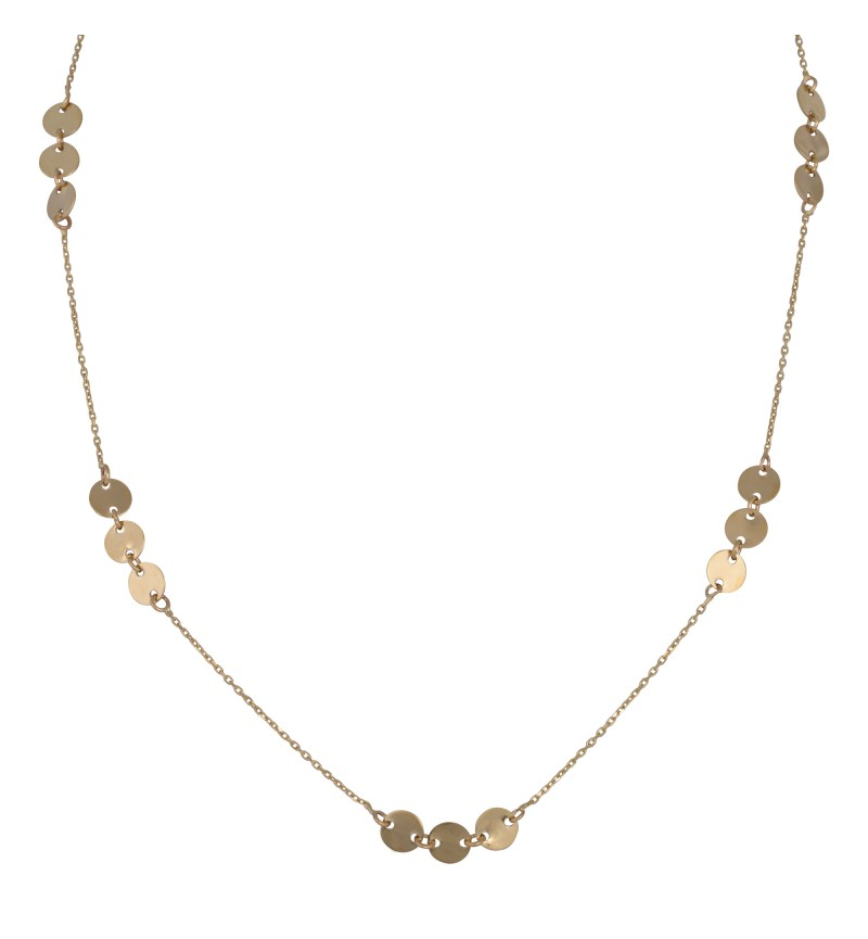 Necklace gold coin