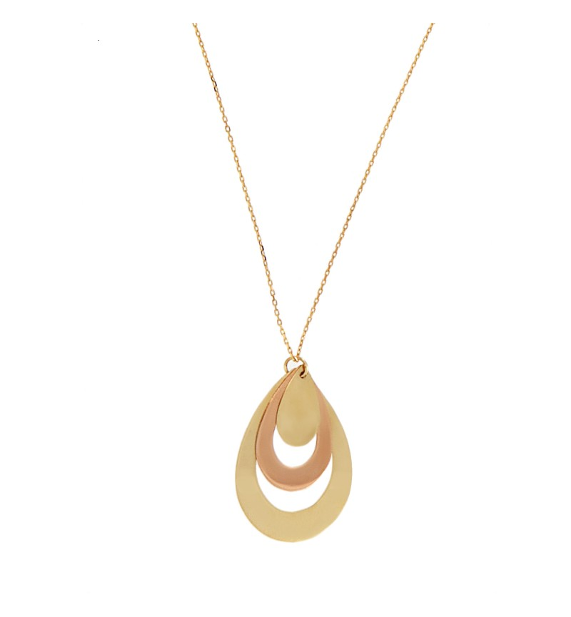 NECKLACE GOLD ROSE DROP