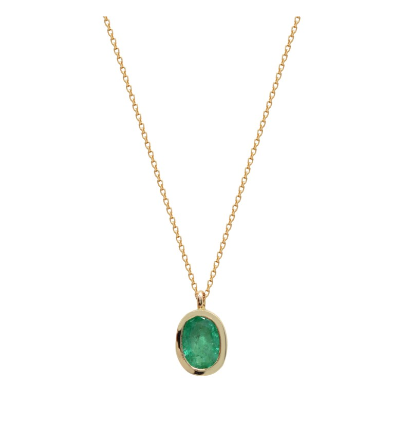 Necklace green gemstone