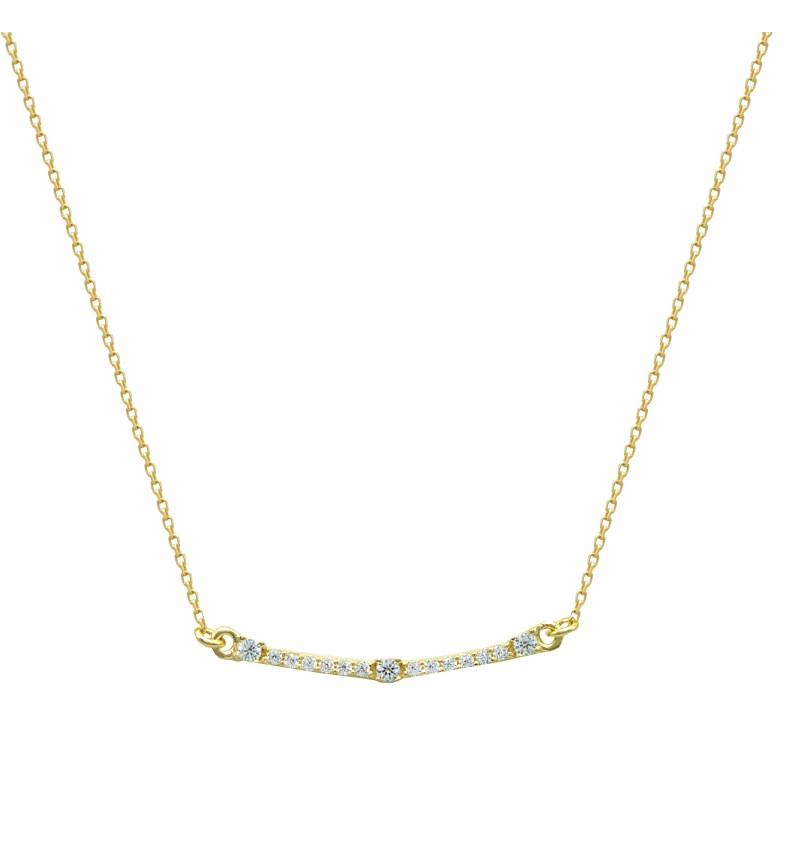 Necklace yellow gold line