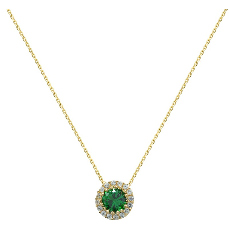 GREEN CYCLE NECKLACE