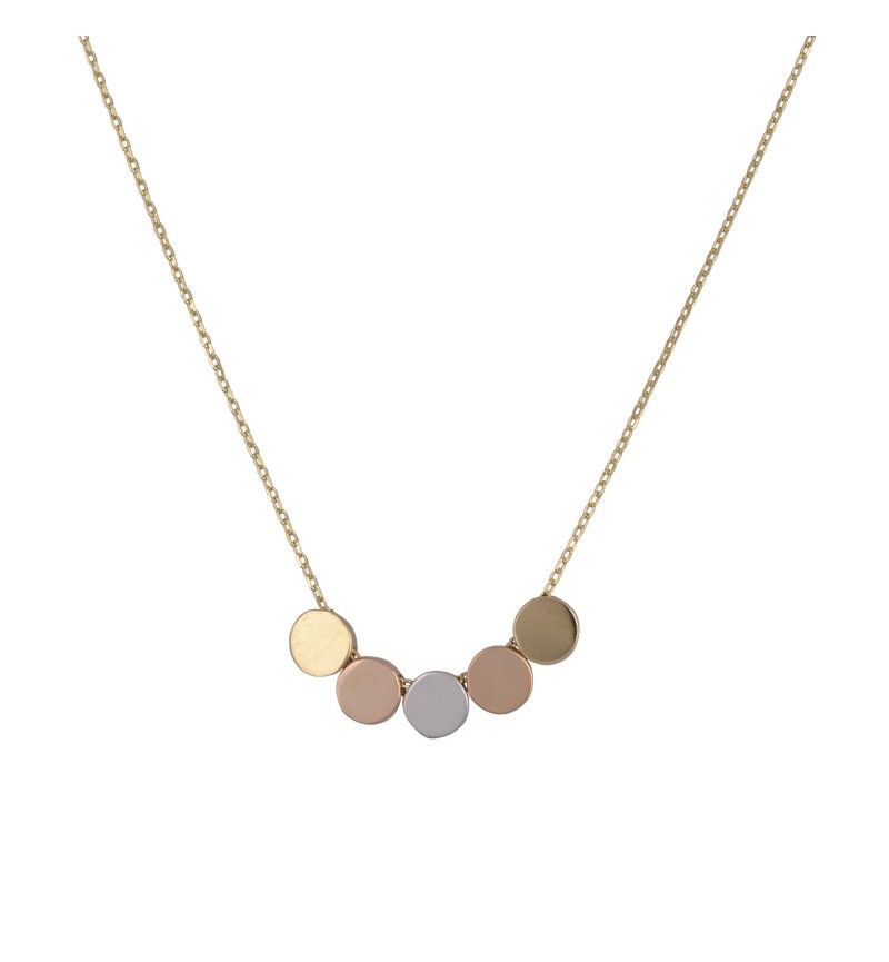 NECKLACE THREE COLORS OF GOLD