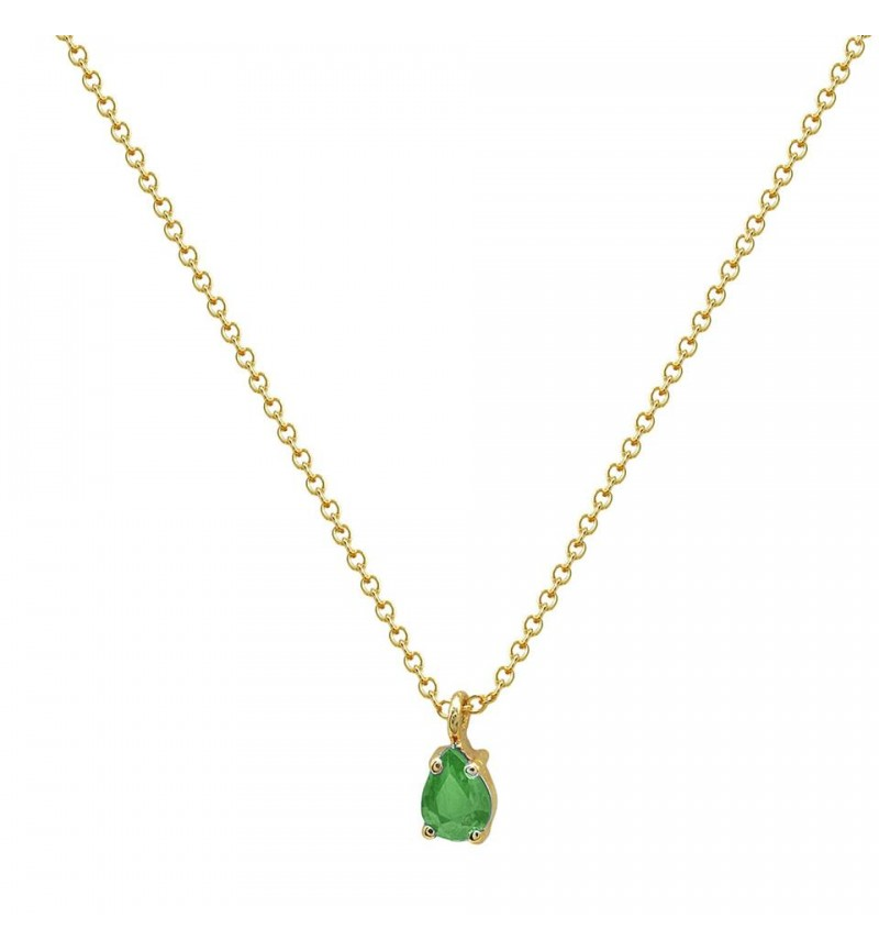 NECKLACE PREMIUM TEAR EMERALD