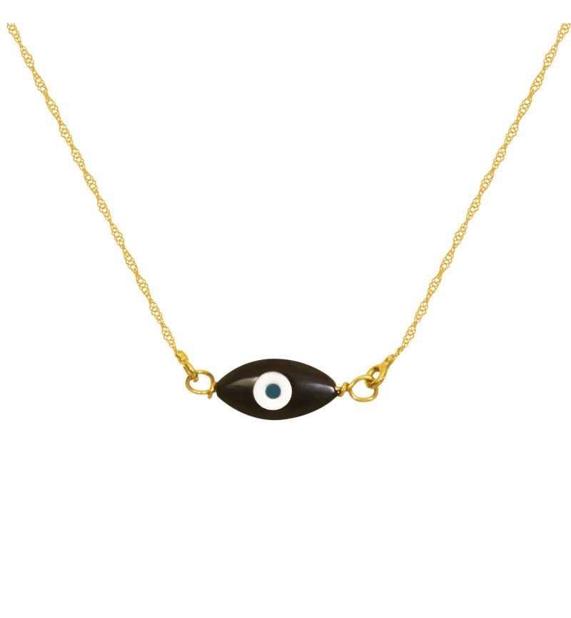 Black eye necklace