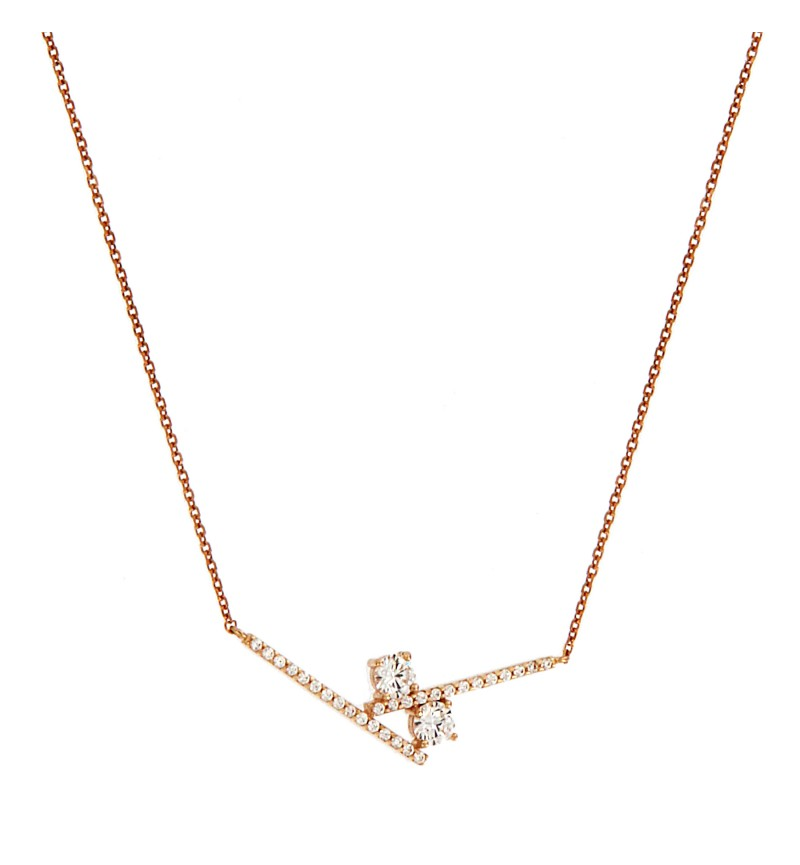 NECKLACE  DOUBLE GEOMETRY LINE