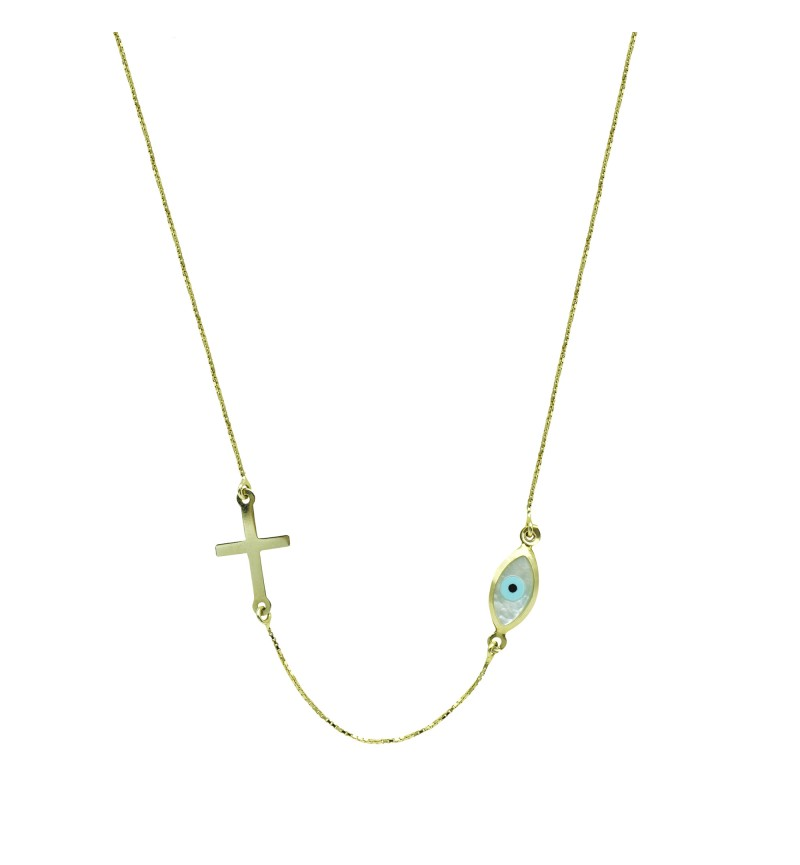 Necklace with eye and cross