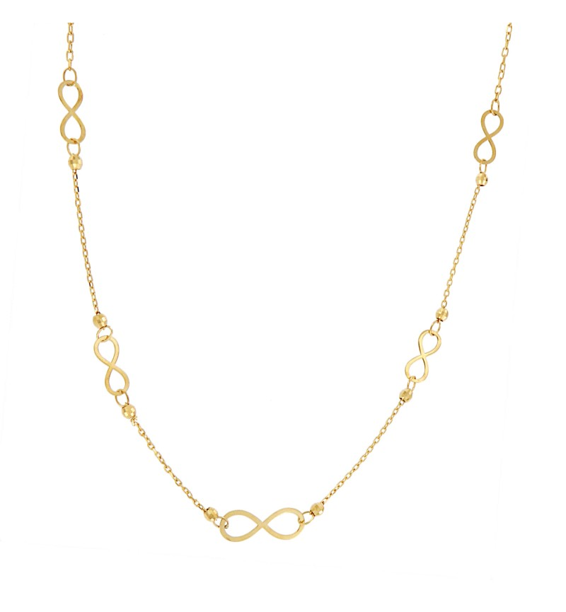NECKLACE GOLD INFINITY