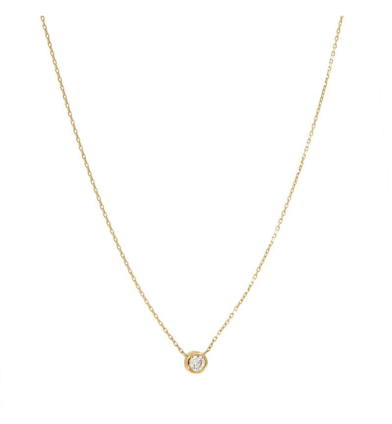 NECKLACE GOLD ONESTONE