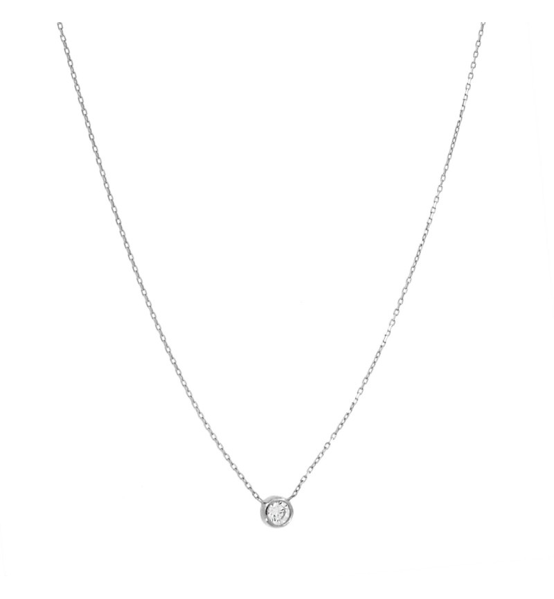 NECKLACE WHITE GOLD ONESTONE
