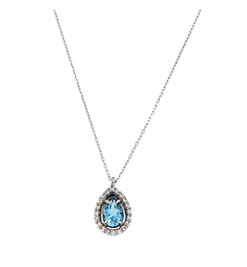NECKLACE BLUE TOPAZ