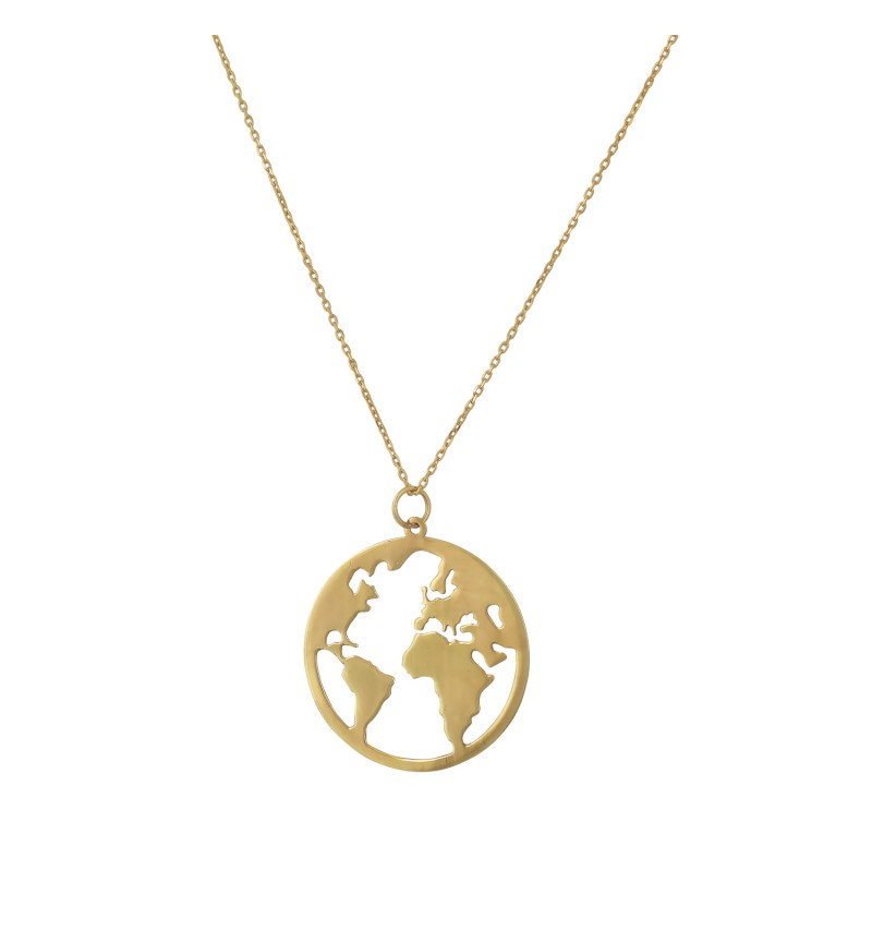 NECKLACE GOLD EARTH