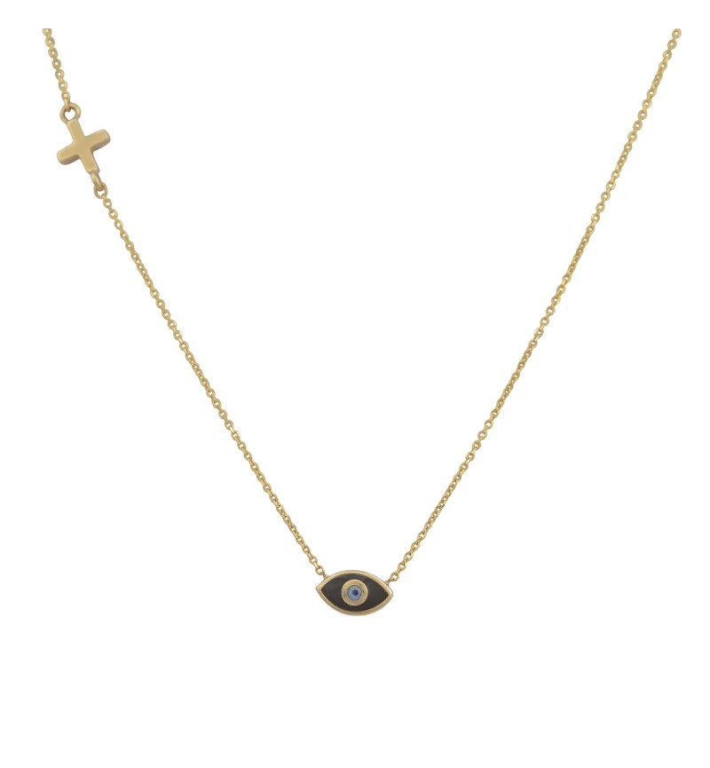 ΚΟΛΙΕ GOLD EYE CROSS