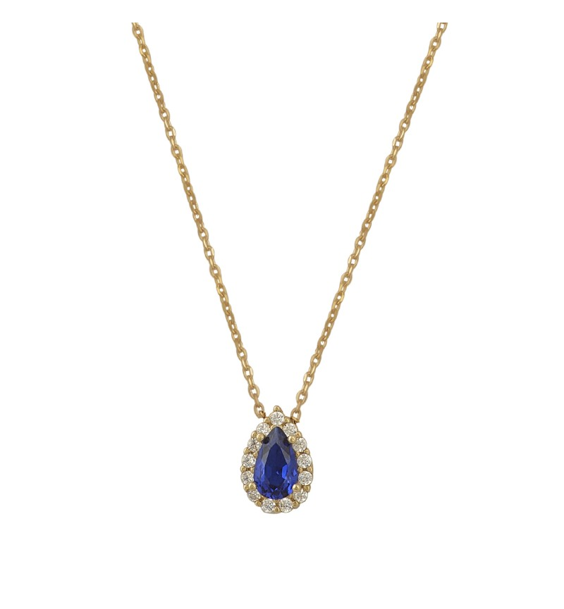 NECKLACE BLUE DROP