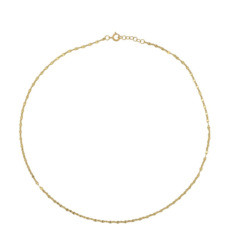 NECKLACE GOLD CHOKER SHINY CHAIN