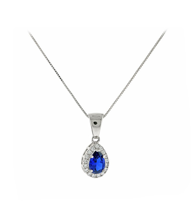 ΚΟΛΙΕ WHITE GOLD BLUE DROP SMALL