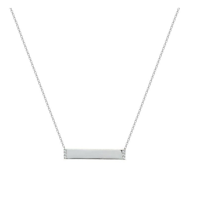 Necklace white gold identity