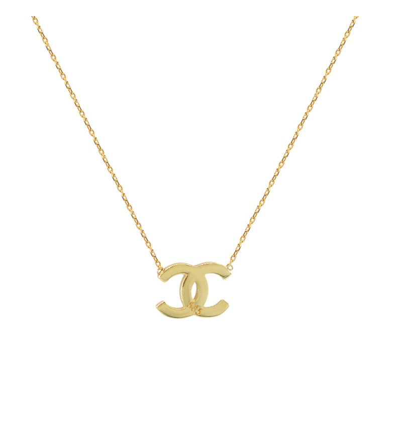 Gold Channel necklace