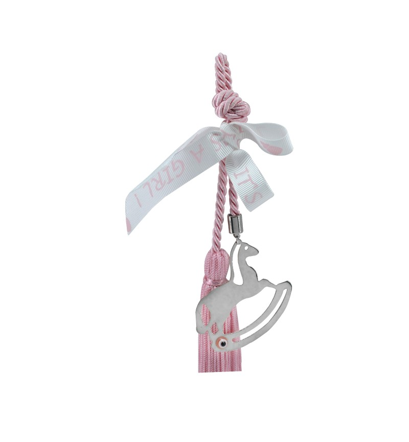 Baby rose charm with horse