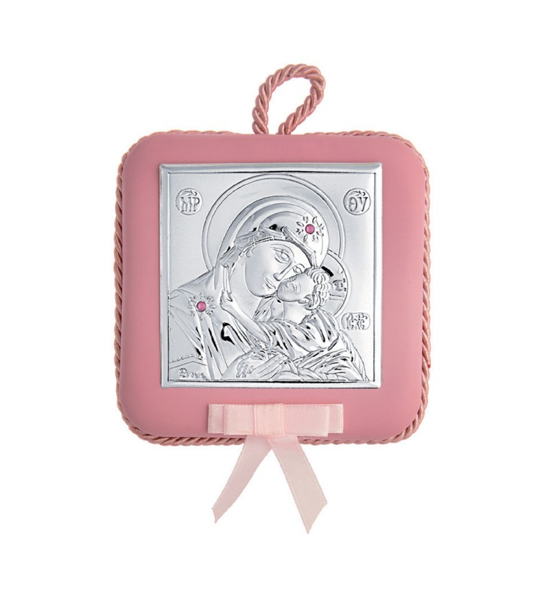 SILVER ORTHODOX ICON FOR BABY GIRL MA / DM605LR