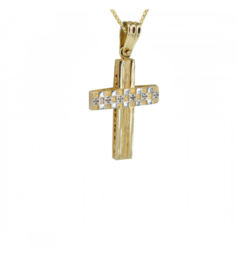 Double faced gold cross 1032
