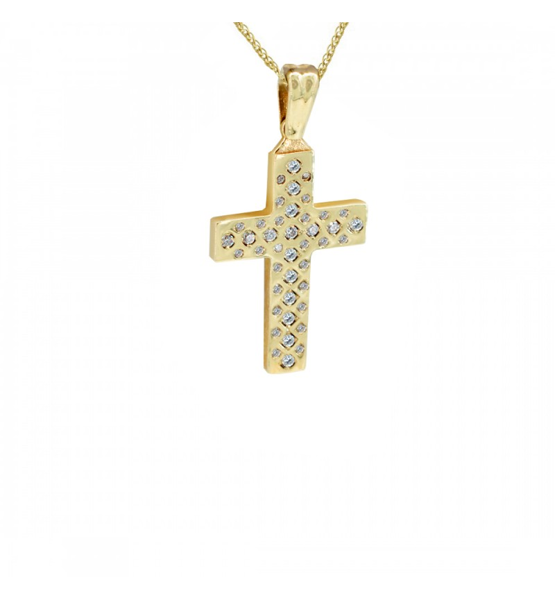 Gold cross with stones 1151