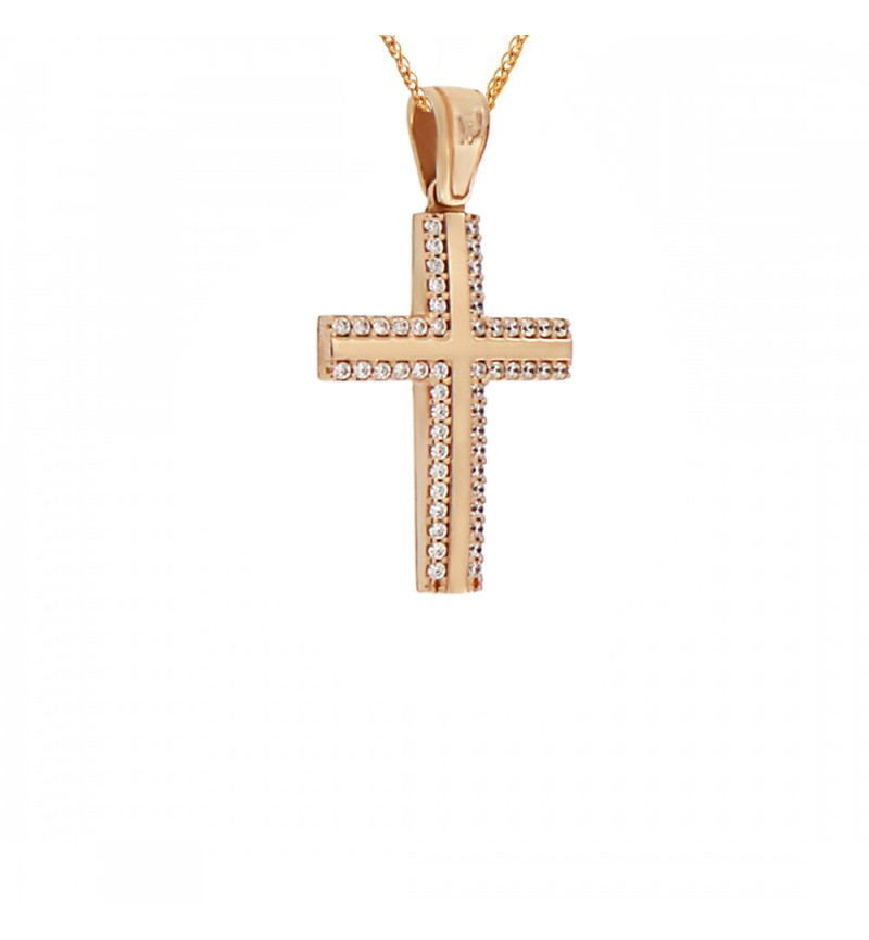 ROSE GOLD CROSS 2177