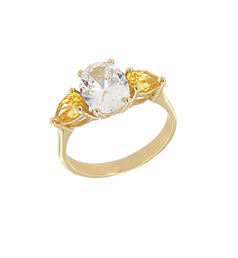 RING OVAL CUT CITRINS
