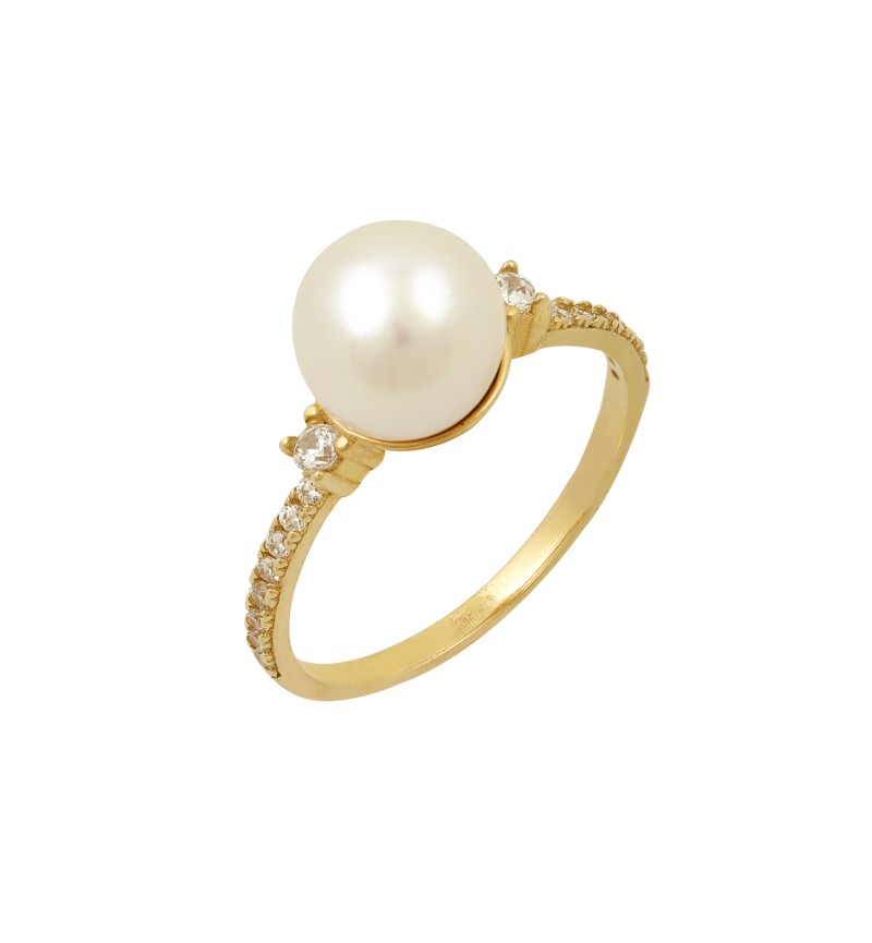 PEARL AND ZIRCONS RING