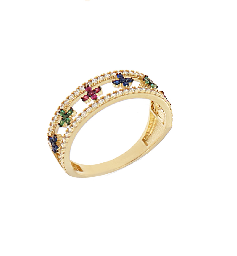 RING COLORFUL CROSSES