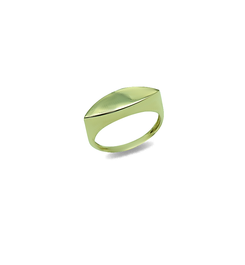 Ring simple oval gold