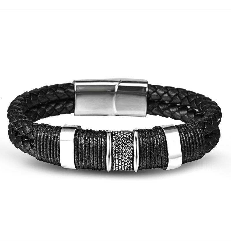 BRACELET KNITTED STYLE WITH STEEL