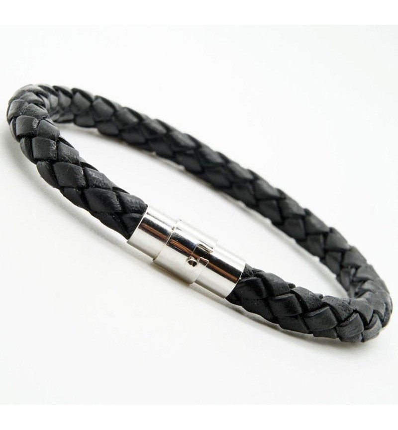 BRACELET KNITTED STYLE LEATHER