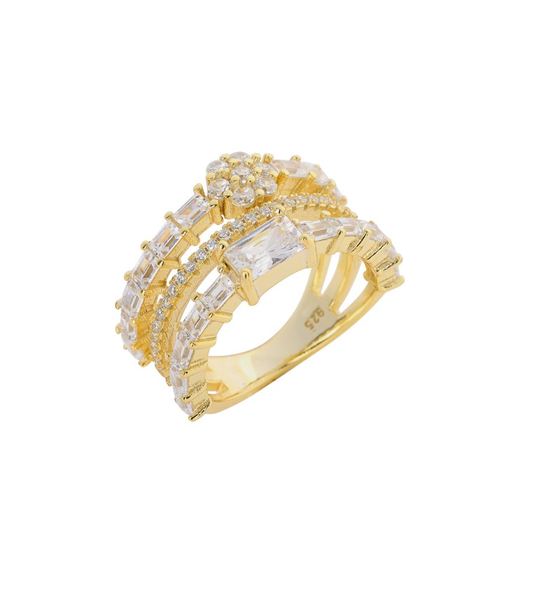 RING GOLD OF ZIRCONS