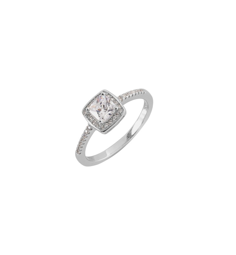 RING WHITE SQUARE TOP