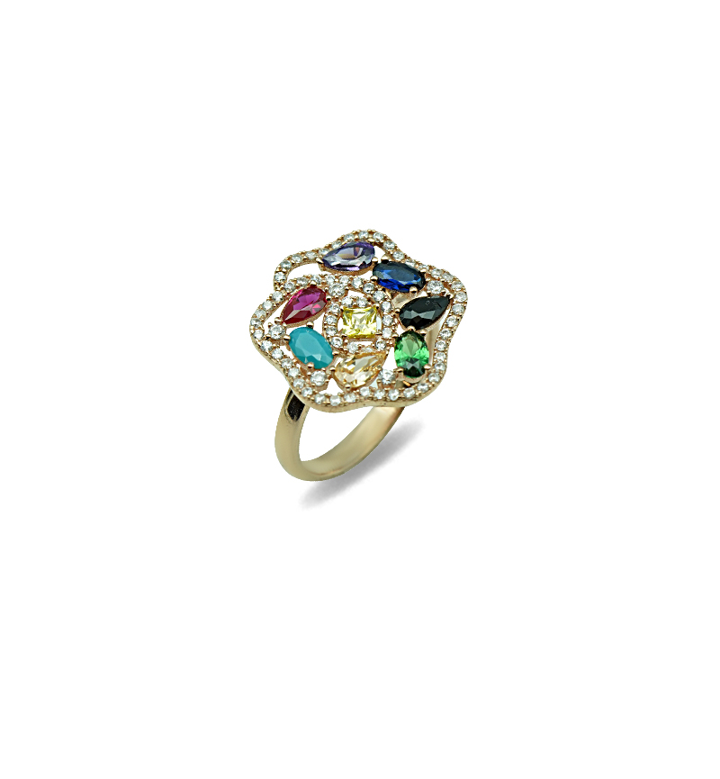 Ring colorful flower