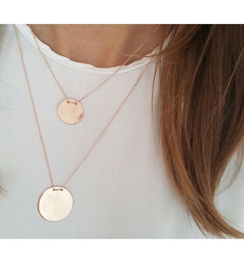 Necklace rose gold cycle