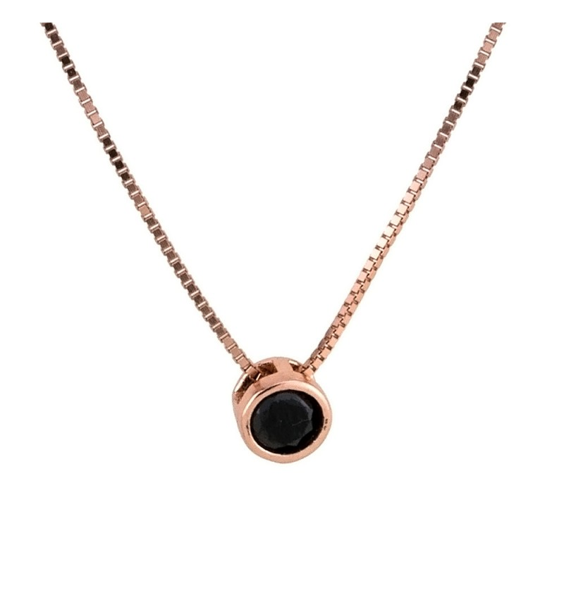 Black Zircon Necklace