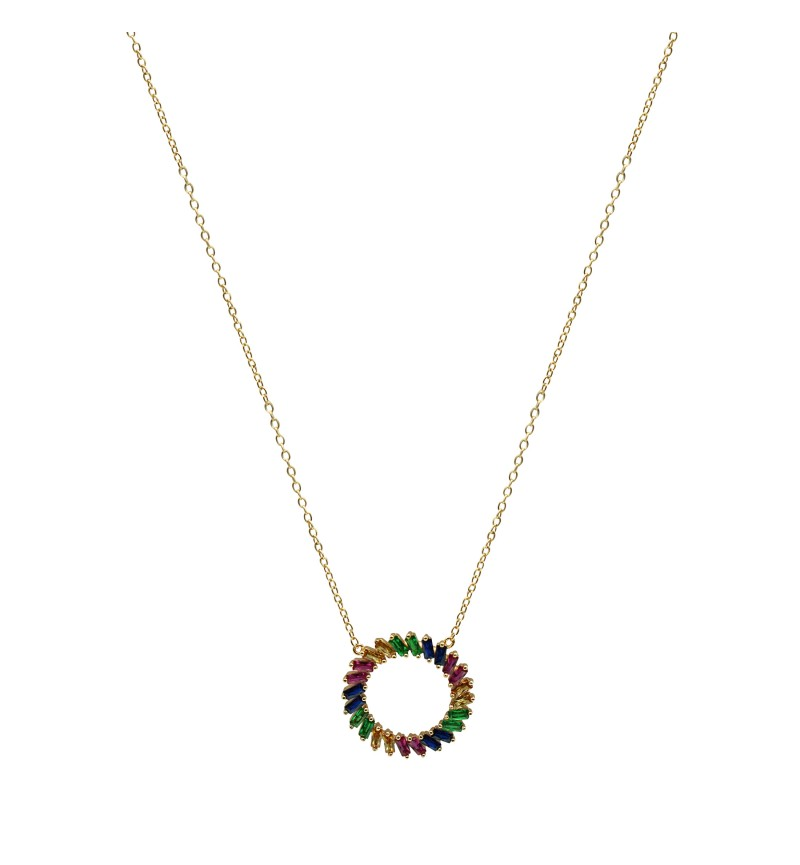 Necklace colorful wreath