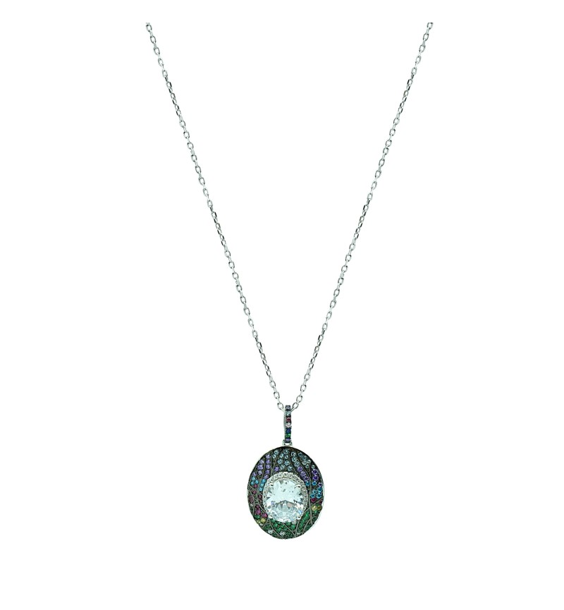 Necklace cycle with zircon