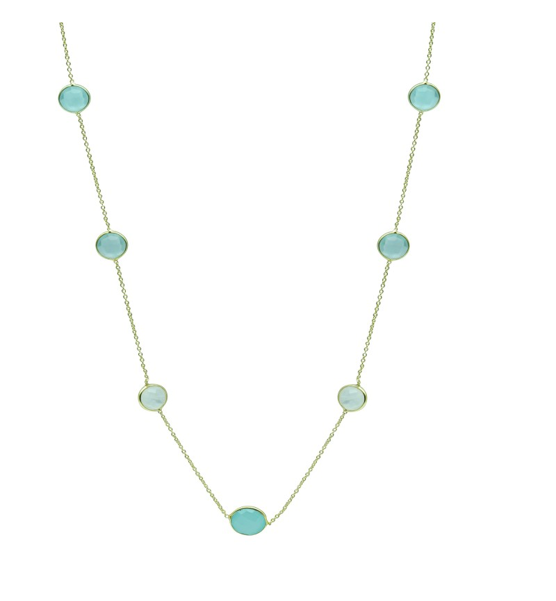 Necklace blue gemstones