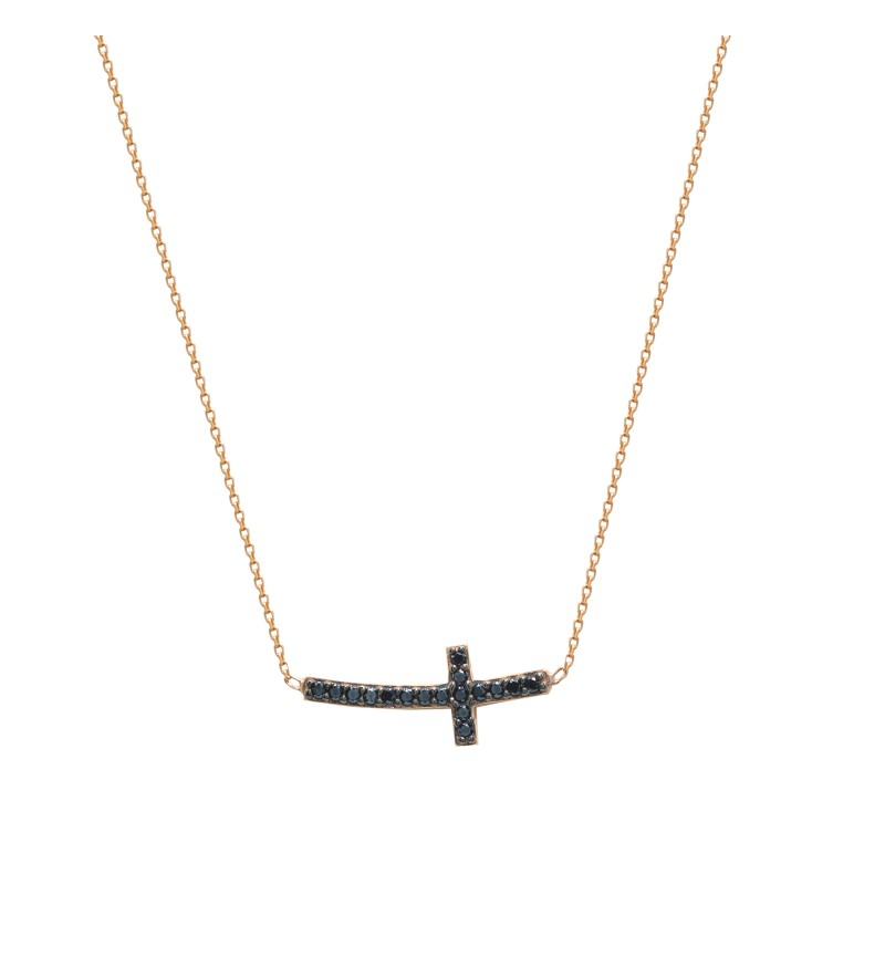 Necklace rose gold cross