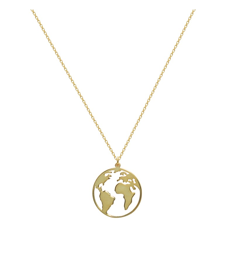 Necklace yellow globe