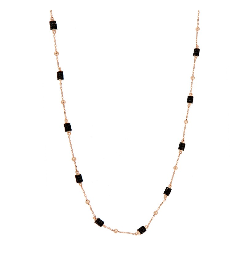 NECKLACE BLACK CUBES