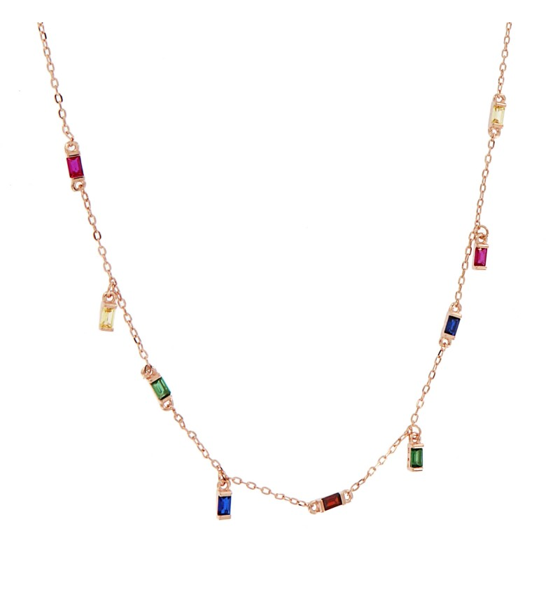 NECKLACE COLORFUL  BAGUETTES