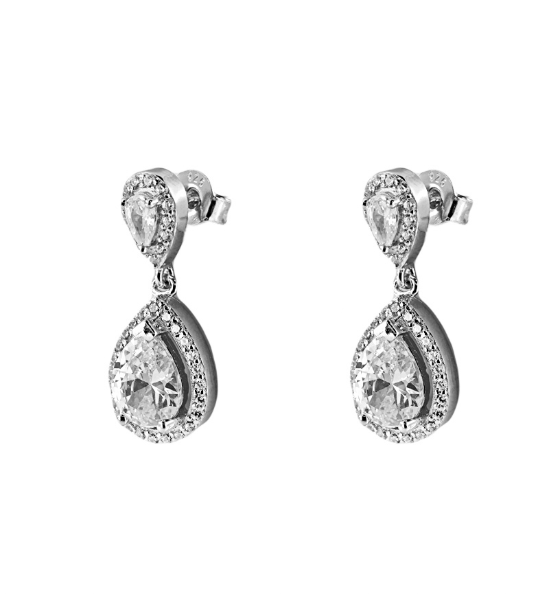 EARRINGS SILVER DROPS