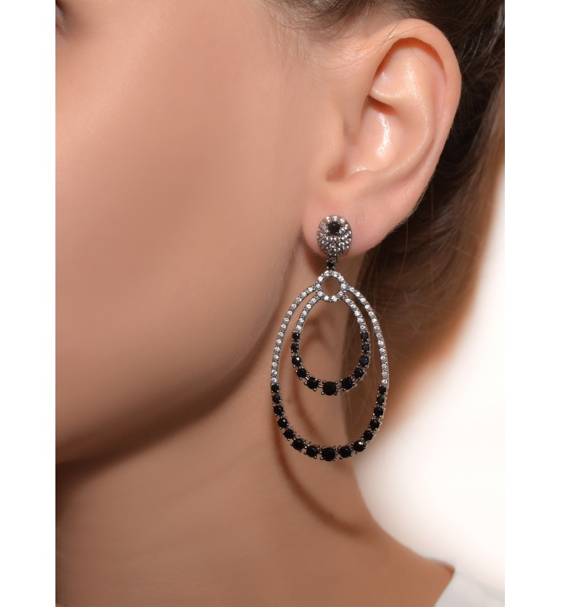 Earrings black glam