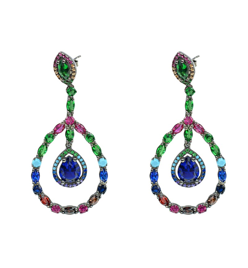 Earrings colourful tears