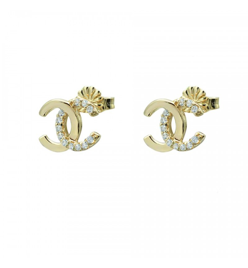 EARRINGS GOLD CHANNEL
